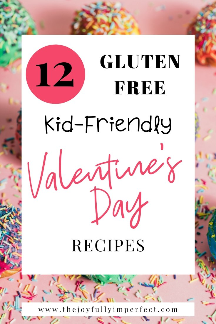 Cake balls with sprinkles and text reading 12 Kid-Friendly Gluten Free Valentine's Day Treats