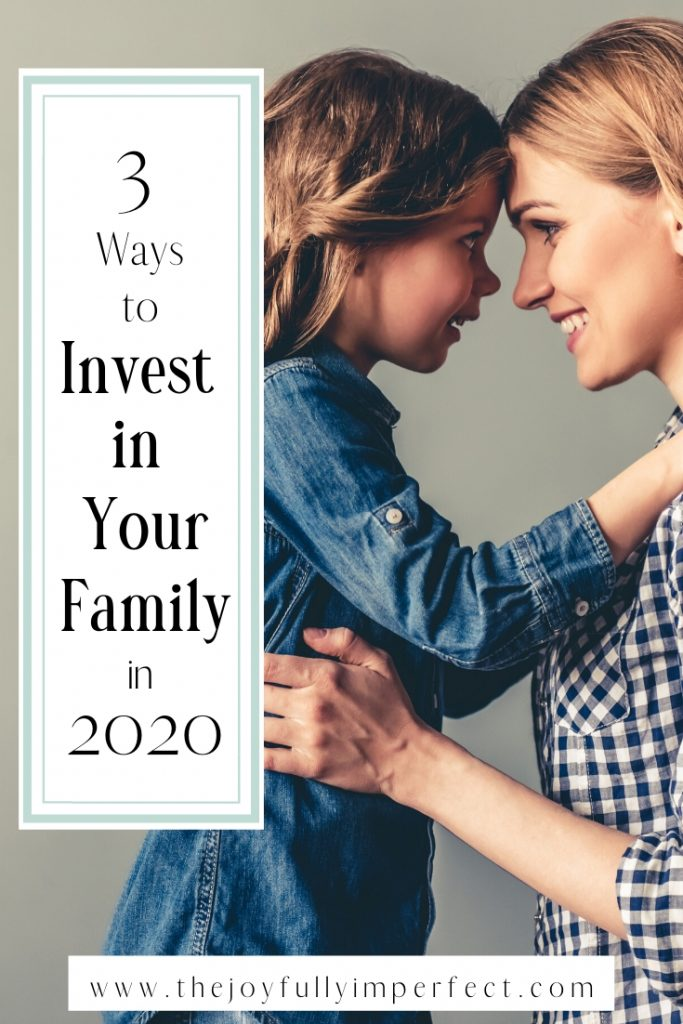 Mom and daughter with text reading 3 ways to invest in your family in 2020 for post benefits of a healthy lifestyle