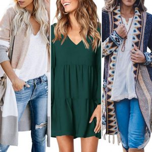 collage of three fall and winter outfits for post 36 more amazon fashion finds for fall and winter