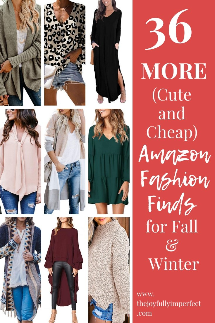 collage of amazon fashion finds for women for post 36 more amazon fashions finds for fall and winter