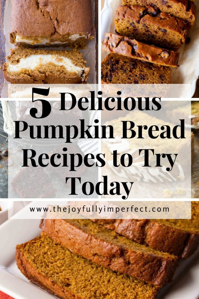 Gallery of 5 variations of pumpkin bread for post on five delicious pumpkin bread recipes