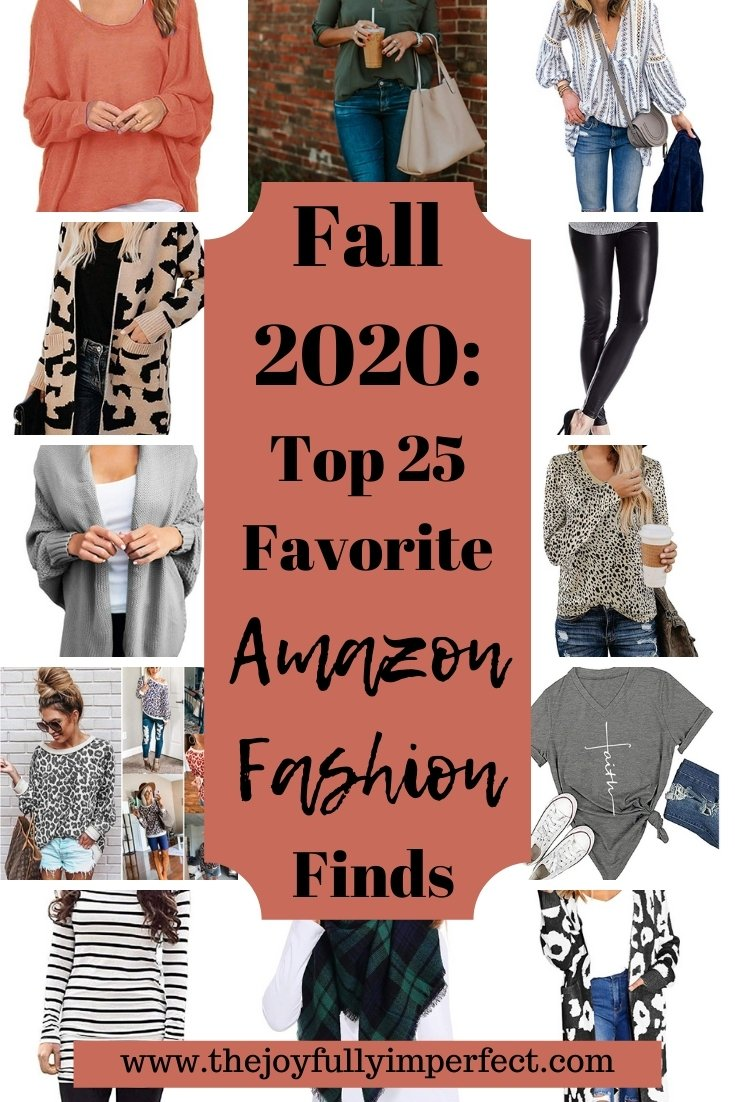 collage of fall fashion options for women for post about favorite fall amazon fashion finds