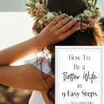 Bride overlooking water for post how to be a better wife in 9 easy steps