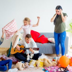 Mom overwhelmed by kids and their mess for post life is short, but summer break with my kids is not
