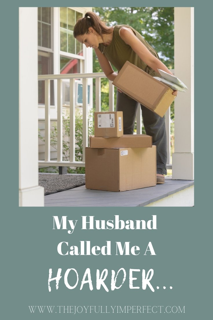 Woman looking at packages on her front porch for post my husband called me a hoarder am i a hoarder