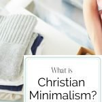 Woman folding clothes in closet for post what is christian minimalism