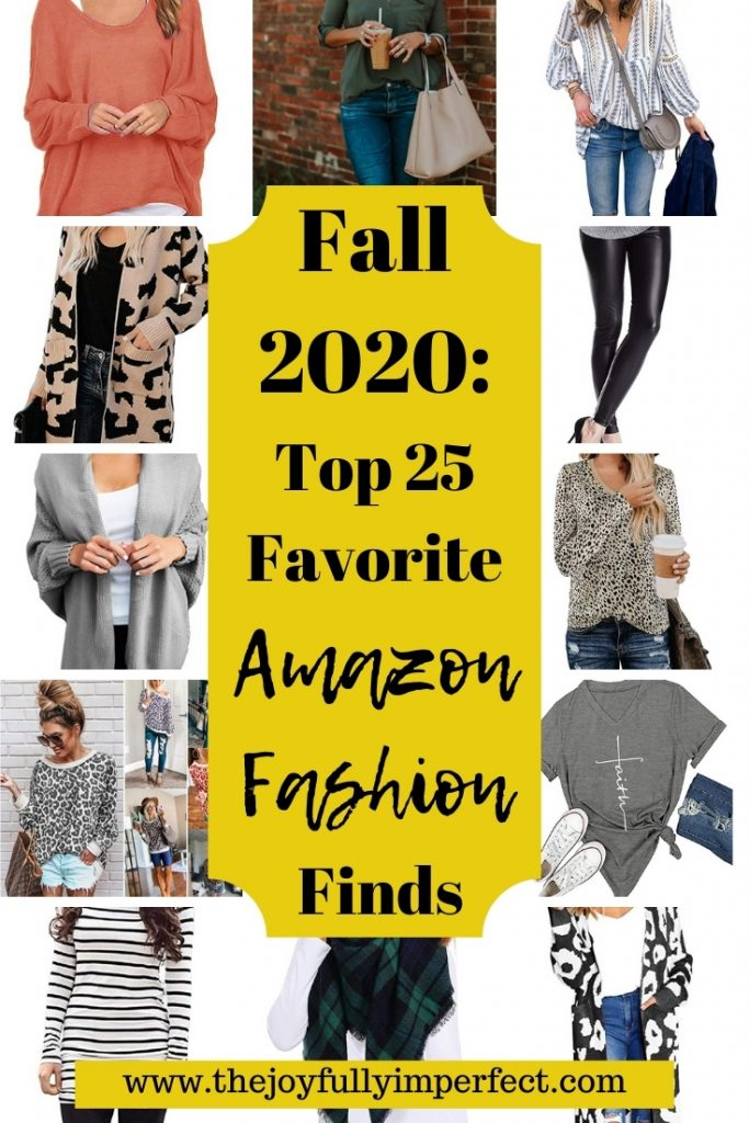 Collage of women's fall amazon fashion finds